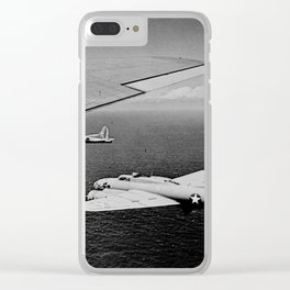B-17F Flying Fortress Bombers over the Southwest Pacific Clear iPhone Case