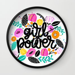 Girl Power Gang T-shirt, Local Girl Gang Wall Clock
