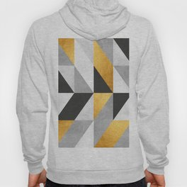 Modern pattern with gold Hoody