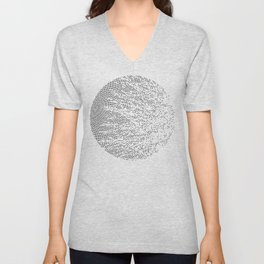 Planet Surface Circle Unisex V-Neck