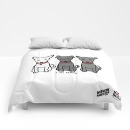3 Musketeers, I Love Bali Dogs Comforters