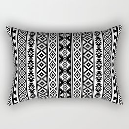 Aztec Stylized Pattern Black & White I Rectangular Pillow