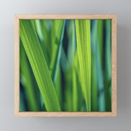 green stripes Framed Mini Art Print