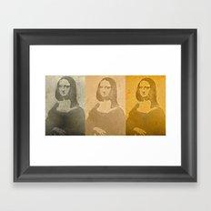 MONA CUBED Framed Art Print