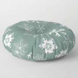 Snowflake collection – sage green Floor Pillow