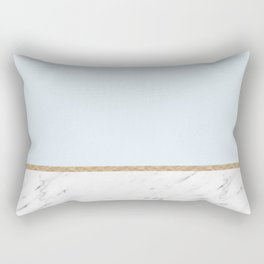 Duck egg blue marble Rectangular Pillow