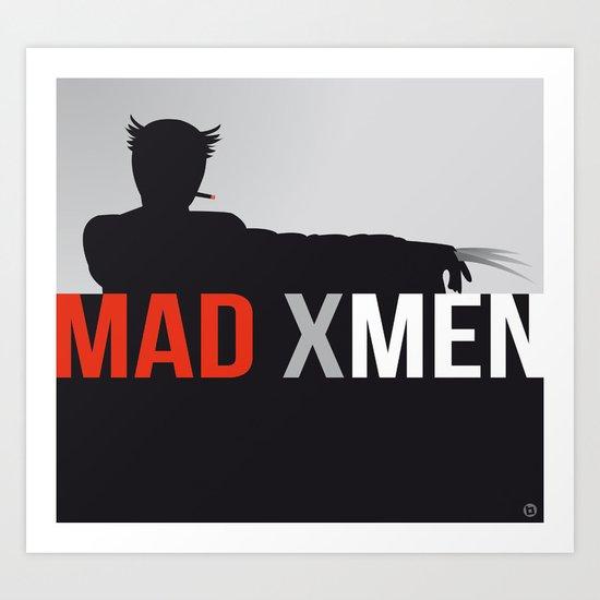 MAD X MEN Art Print