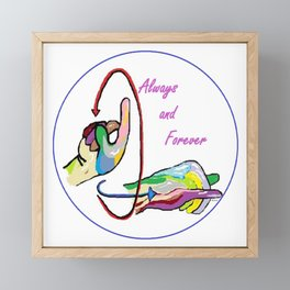 ASL Always and Forever Framed Mini Art Print
