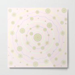 baby art mandala flower-pastel colors-healing-nursery art-hand painted-sweetness and love Metal Print