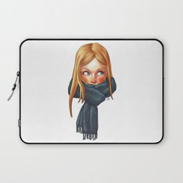 Blonde with Scarf Laptop Sleeve
