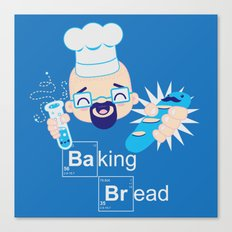 Baking Bread Kawaii Canvas Print