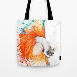 Orange Splice Gourami Tote Bag