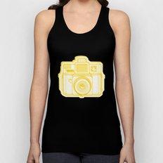 I Still Shoot Film Holga Logo - Reversed Yellow Unisex Tank Top