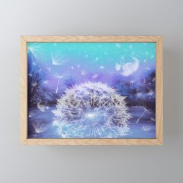 Make a Wish - Blue Framed Mini Art Print