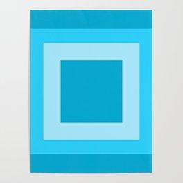 Sea Blue Square Design Poster