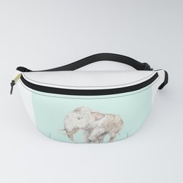 Woolly Mammoth Watercolor Mastodon Painting Fanny Pack