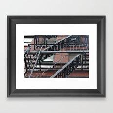 Up the Escape Framed Art Print