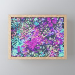 Magenta Flowers Framed Mini Art Print