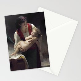 """William-Adolphe Bouguereau """"Berceuse (Le coucher)"""" Stationery Cards"""