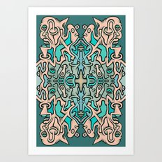 Brain Cloud Art Print