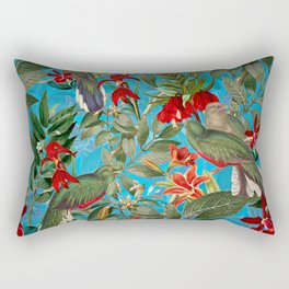 Vintage & Shabby Chic - Tropical Birds and Orchid  Aloha Jungle Rectangular Pillow