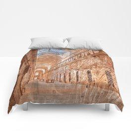 Battered Prison Corridor Comforters