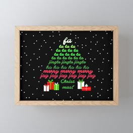 Fa la la Joy Christmas Framed Mini Art Print