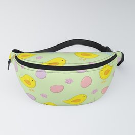 Easter pattern on green Fanny Pack