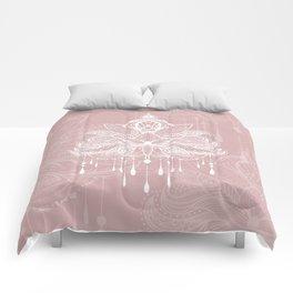 Blush mandala Comforters