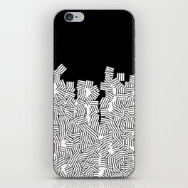 Minimalist black / White geometric iPhone Skin
