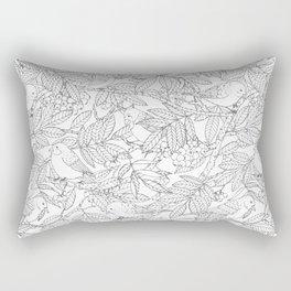 Birds on Rowan Tree Pattern Rectangular Pillow