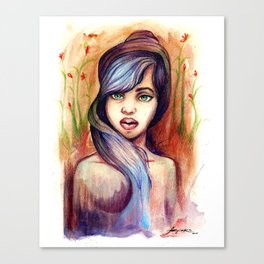 She is Lavender Canvas Print