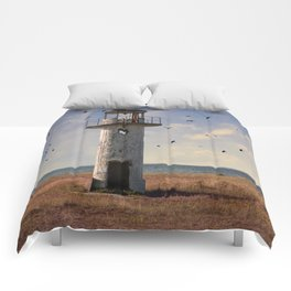 Sunny afternoon at the estonian coast Comforters