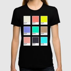 A DESIGNER'S SUMMER SMALL Black Womens Fitted Tee