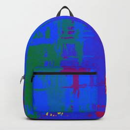 Gay Pride Rough Crosshatched Paint Strokes Backpack