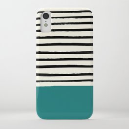 Teal x Stripes iPhone Case