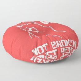 Heart break Bent flower motivation gift Floor Pillow