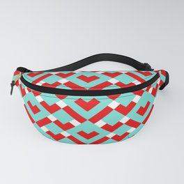 Graphic Hearts Pattern (Christmas Candy Color Palette) Fanny Pack