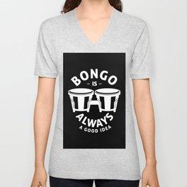 Bongo drum drums drummer instrument Unisex V-Neck