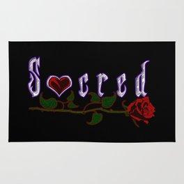 """""""Sacred"""" Logo Rug Rug"""