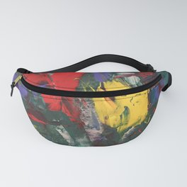 Abstracted Bull and Monkey Fanny Pack