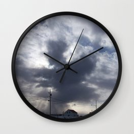 Witch in the clouds Wall Clock