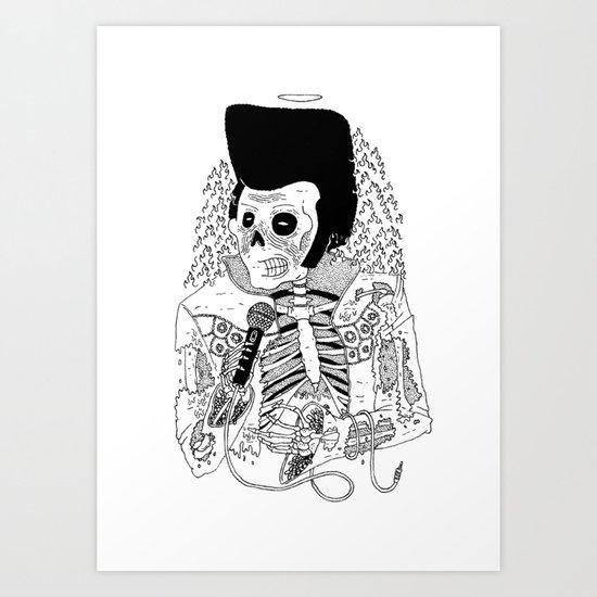 Dead Famous - Elvis Art Print