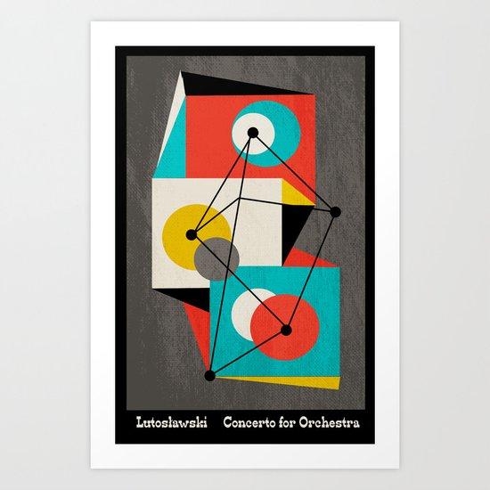 Lutoslawski Concerto for Orchestra Art Print