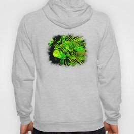 lionfish vector art green Hoody