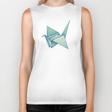 High Hopes | Origami Crane Biker Tank
