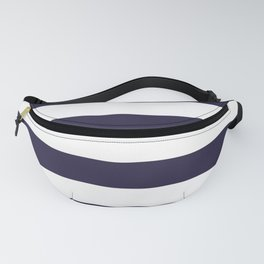 Dark eclipse Blue and White Wide Horizontal Cabana Tent Stripe Fanny Pack
