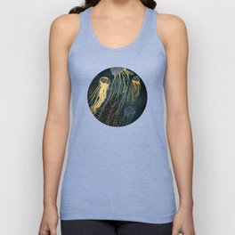 Metallic Jellyfish Unisex Tank Top