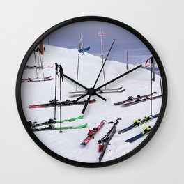 Skiers can't read ;o) Wall Clock