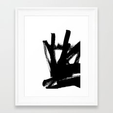 Abstract black & white 1 Framed Art Print